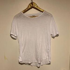 Madewell crew neck white tee shirt